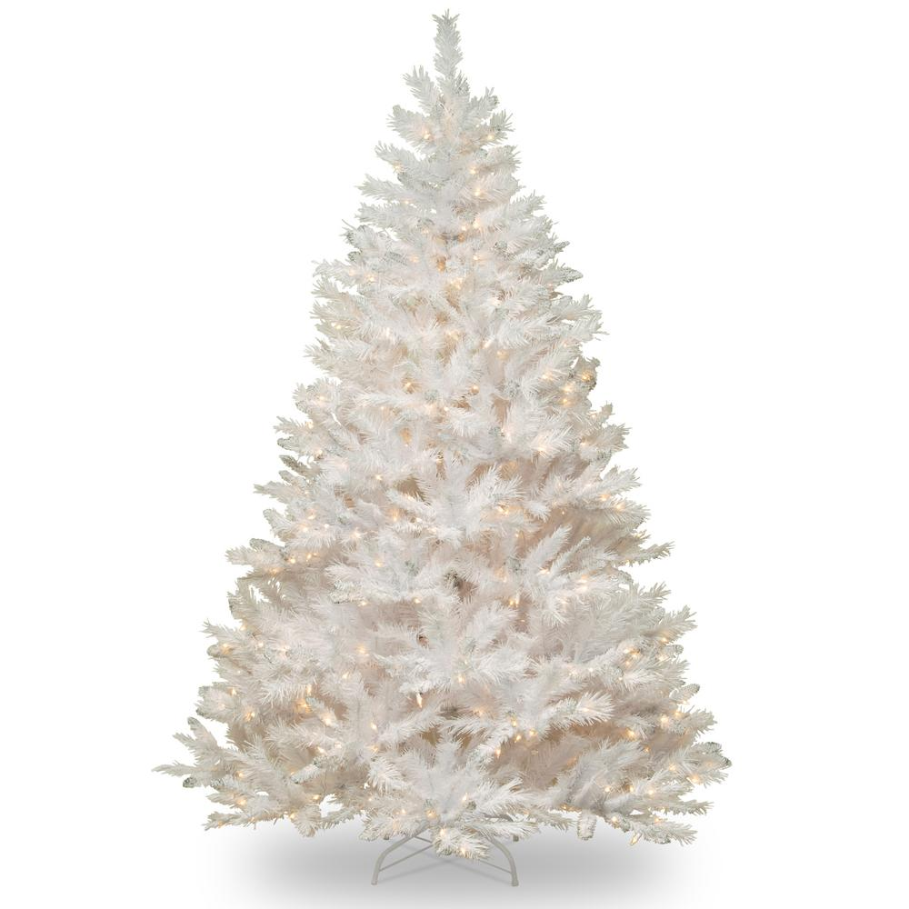 national tree company 65 ft winchester white pine artificial christmas tree with clear lights