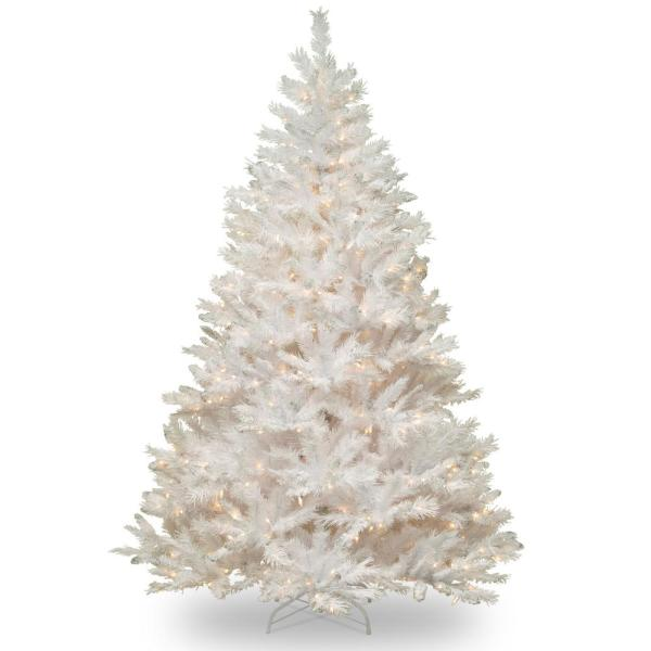 6.5 ft. Winchester White Pine Artificial Christmas Tree with Clear Lights