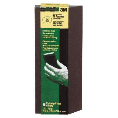2-7/8 in. x 8 in. x 1 in. Fine and Medium Grit Extra Large Single Angle Sanding Sponge (12-Case)