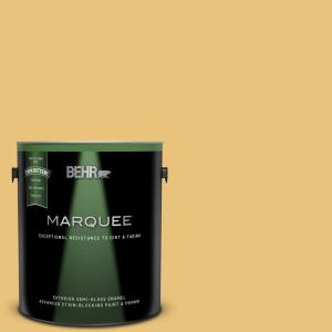 1 gal. #MQ4-13 Golden Thread Semi-Gloss Enamel Exterior Paint and Primer in One