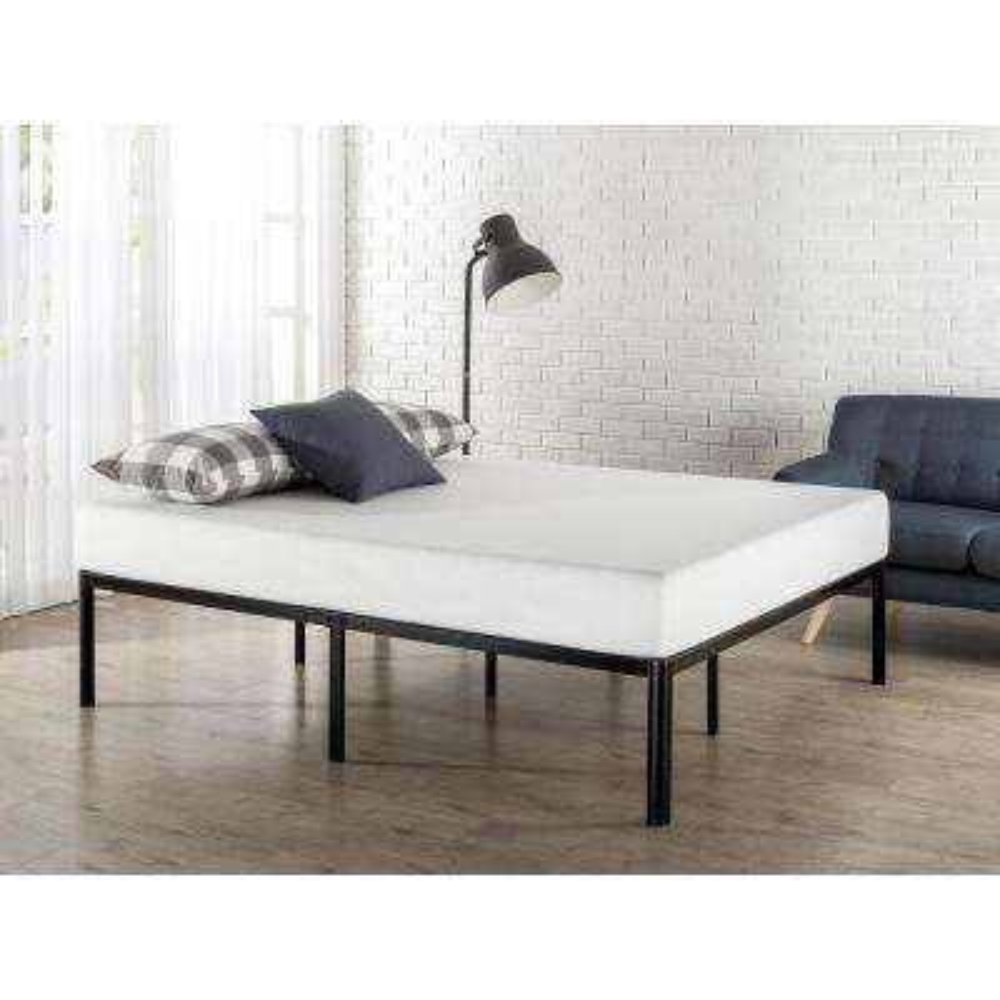 Black Full Metal Platform Bed