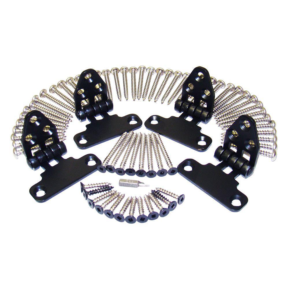 ArmorGuard Black Stainless Steel Stair Rail Hardware Kit