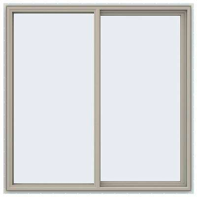 59.5 in. x 59.5 in. V-4500 Series Desert Sand Vinyl Right-Handed Sliding Window with Fiberglass Mesh Screen