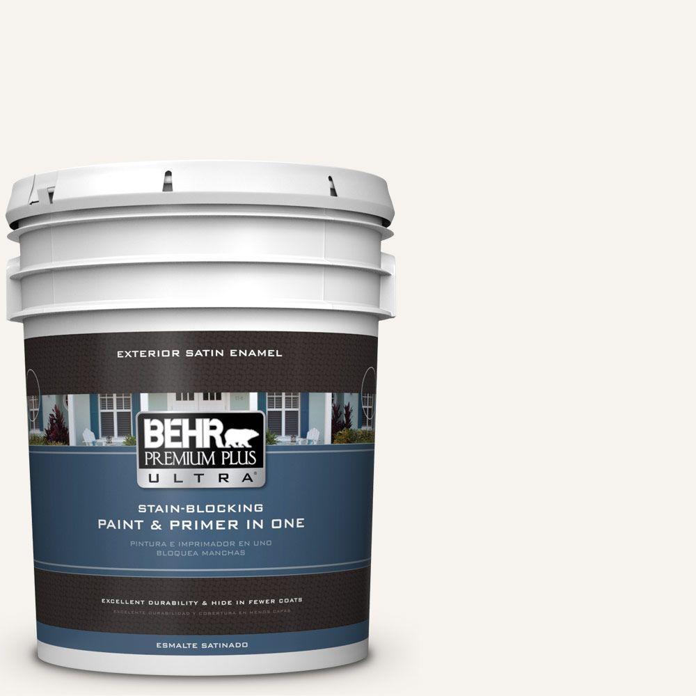 BEHR Premium Plus Ultra Home Decorators Collection 5-gal. #HDC-MD-08 Whisper White Satin Enamel Exterior Paint
