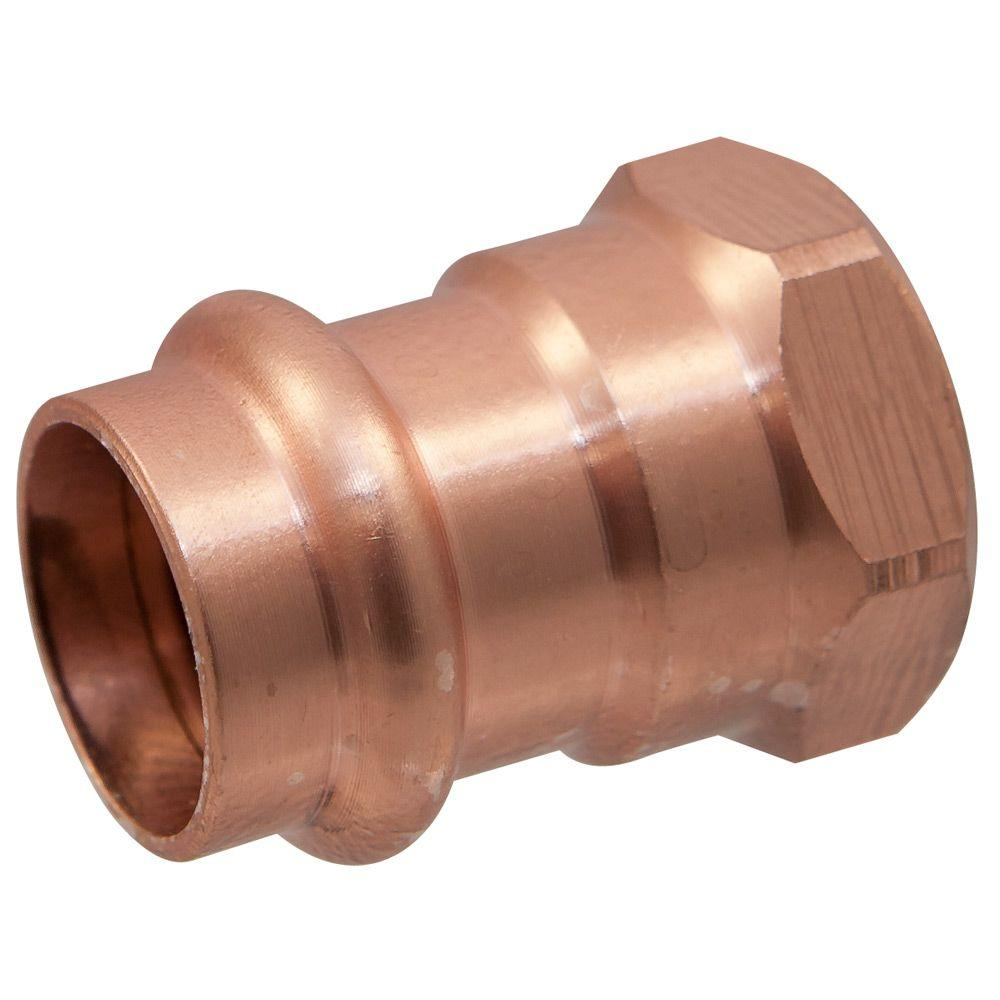 1 in. Copper Press x FPT Pressure Female Adapter