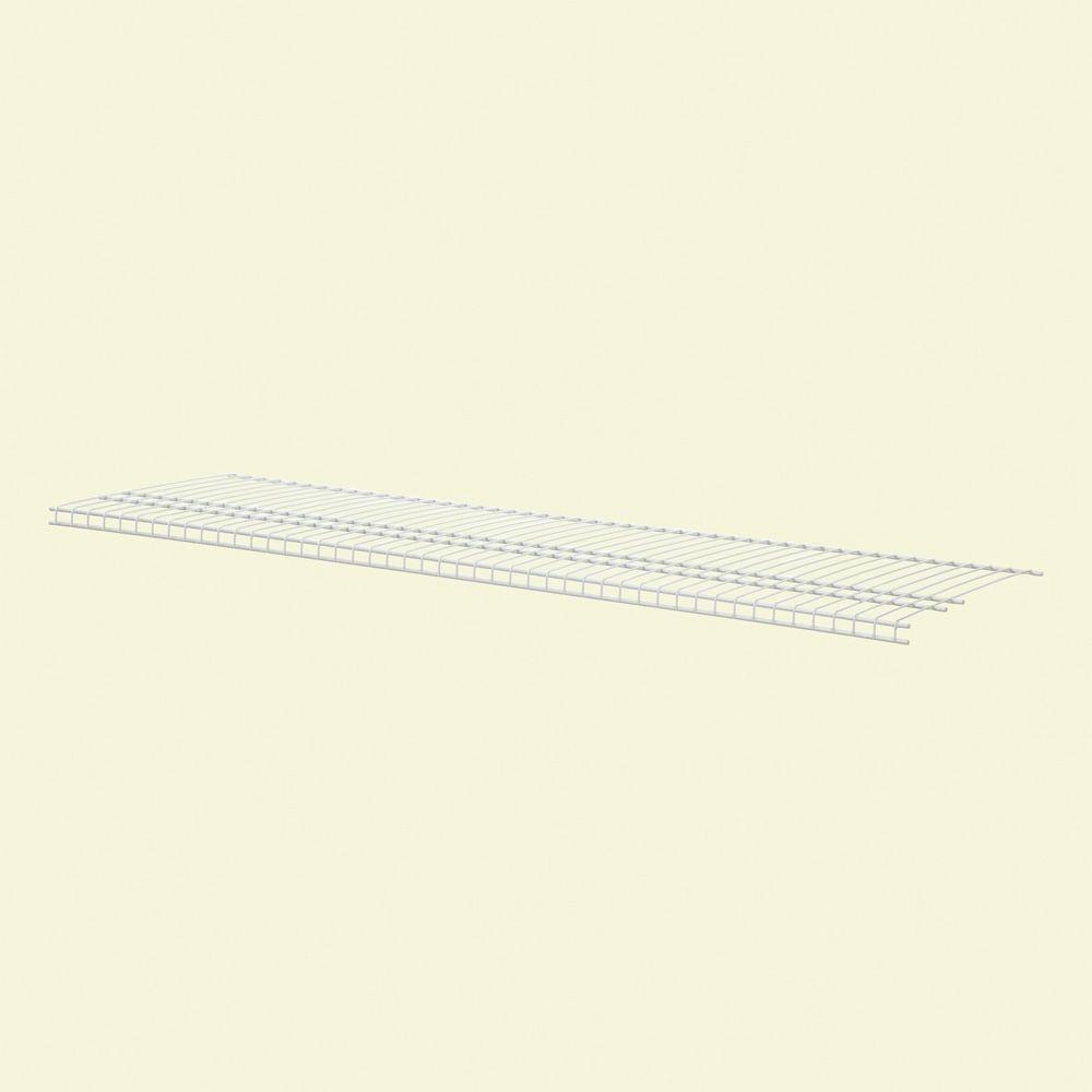 SuperSlide 72 in. W x 16 in. D White Ventilated Wire Shelf