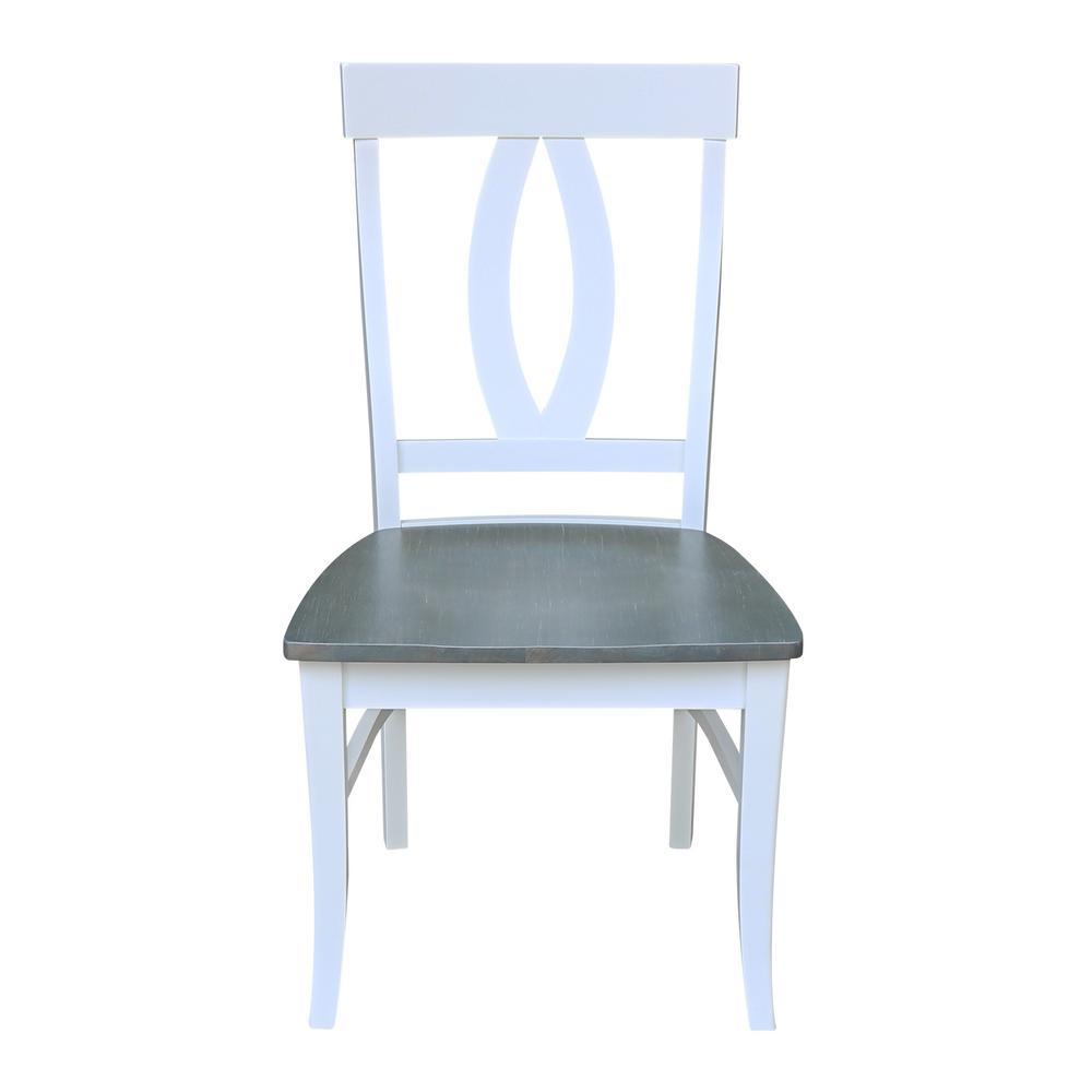 White/Gray Verona Dining Chairs (Set of 2)