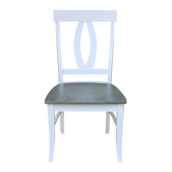 International Concepts White Gray Verona Dining Chairs Set Of 2