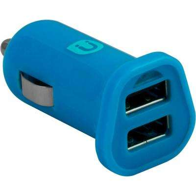 2.0 - 2.4 Amp DC USB Adapter, Blue