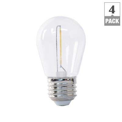 Plastic led wet rated and outdoor safe led bulbs light bulbs 11w equivalent soft white 2200k s14 string light led light bulb 4 aloadofball Image collections