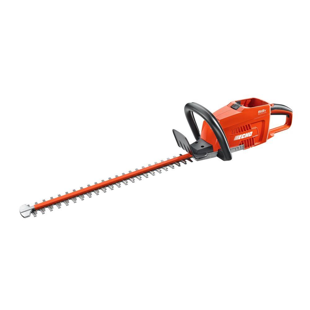 Echo 24 in. 58-Volt Lithium-Ion Brushless Cordless Hedge ...