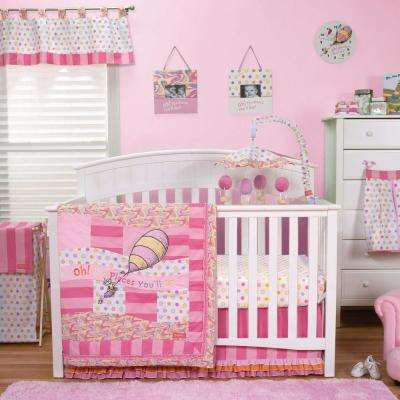 Dr. Seuss Oh, the Places You'll Go Pink 3-Piece Crib Bedding Set