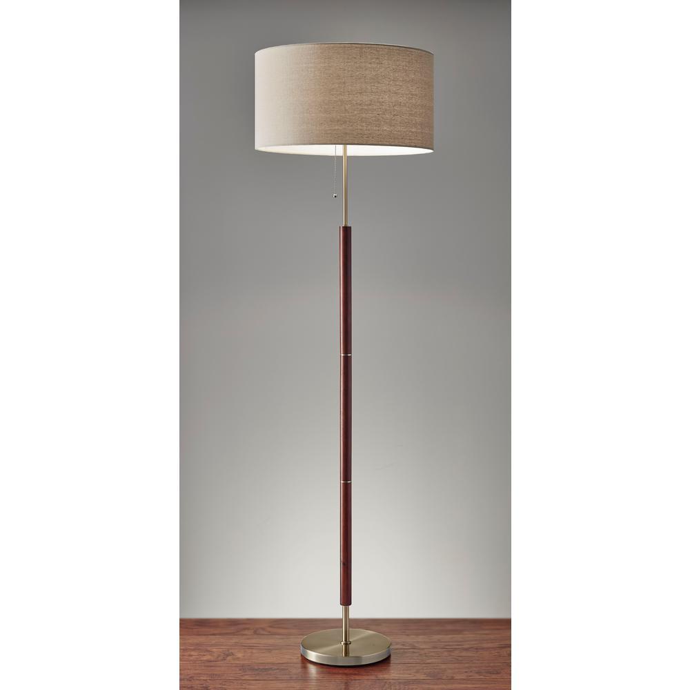 Adesso Hamilton 65 In Metal Floor Lamp 3377 15 The Home Depot