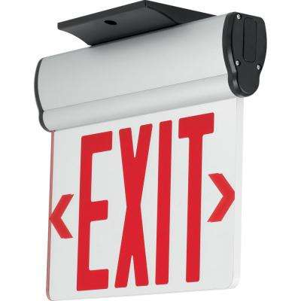 120-Volt Brushed Aluminum Integrated LED Exit Sign