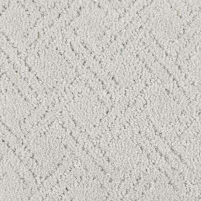 Carpet Sample - Pure - Color Silver Tip Pattern 8 in. x 8 in.