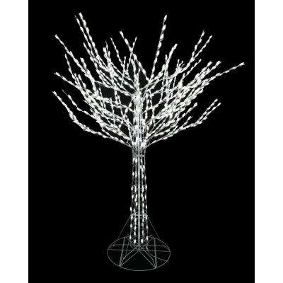 led pre lit bare branch tree with white lights