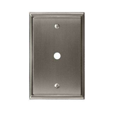Mulholland 1-Cable Wall Plate, Satin Nickel