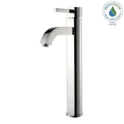 Ramus Single Hole Single-Handle Vessel Bathroom Faucet in Chrome