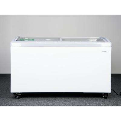 9.5 cu. ft. Curved Glass Top Chest Freezer in White