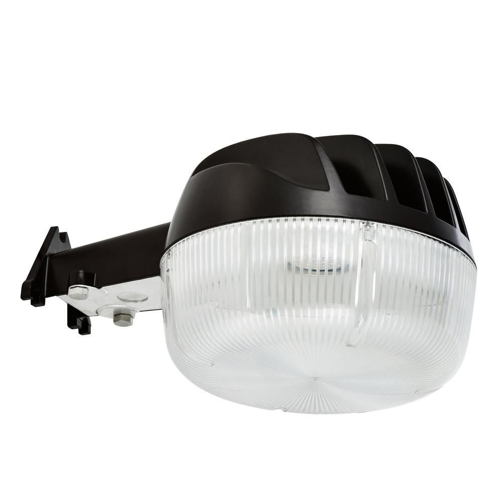 25-Watt Bronze Dusk-to-Dawn Outdoor Integrated LED Area Light Wall/Pole Mountable