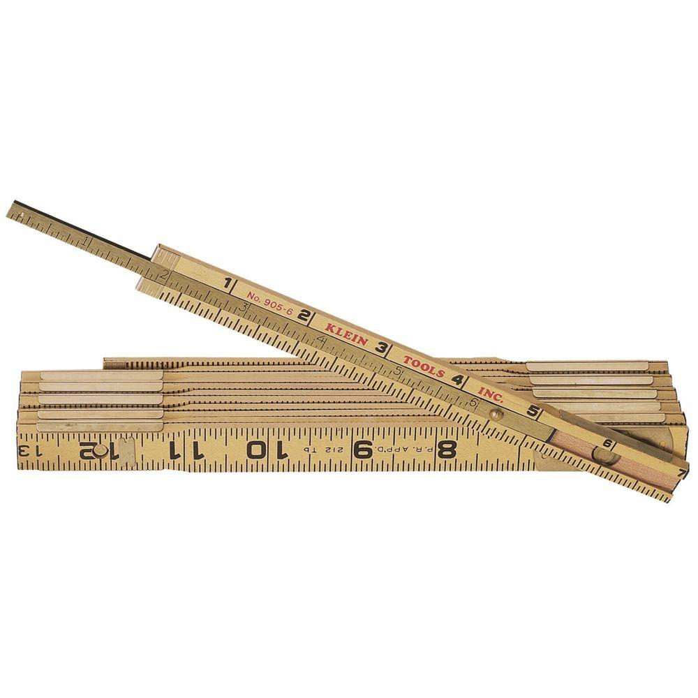 6 ft. Wood Folding Ruler with Extension
