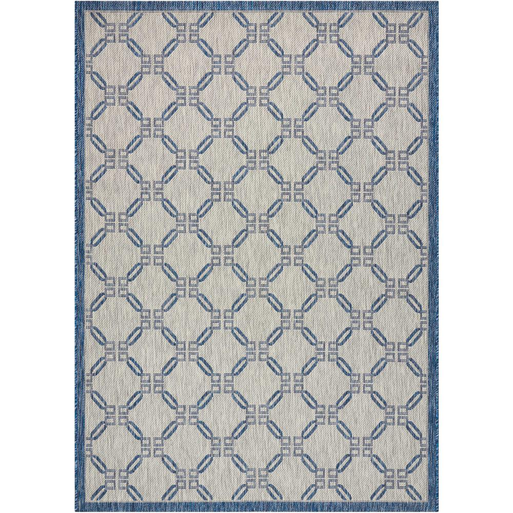 Country Side Ivory Blue 3 ft. 6 in. x 5 ft.