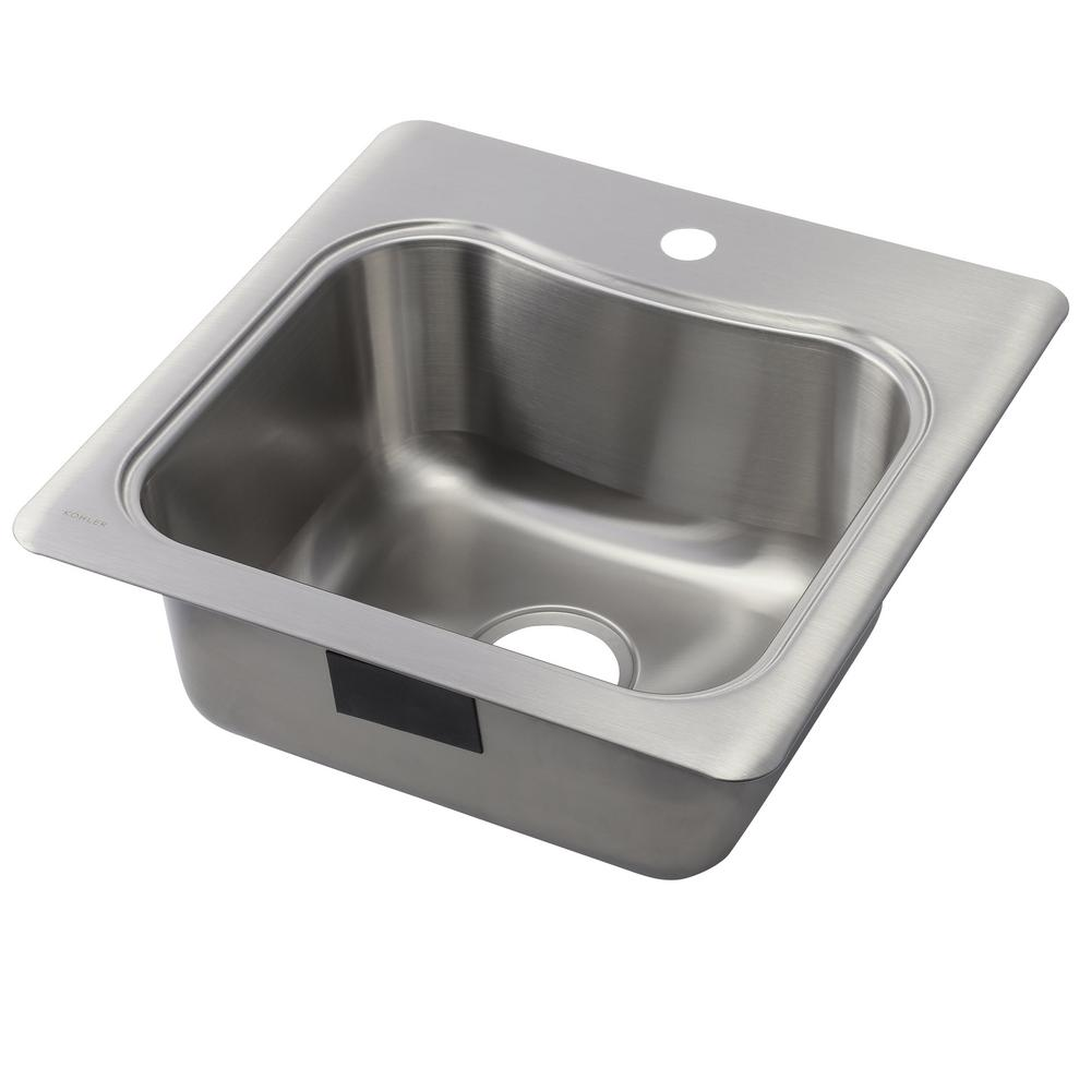 Charming Staccato Drop In Stainless Steel 20 In. 1 Hole Single Bowl Kitchen Sink