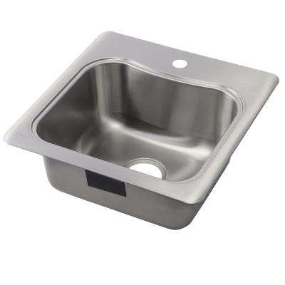 Staccato Drop In Stainless Steel 20 In. 1 Hole Single Bowl Kitchen Sink