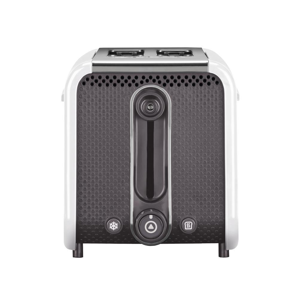 Studio 2-Slice White Toaster with Crumb Tray