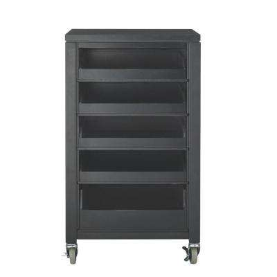 36 in. H Silhouette Cart with Pull Out Trays