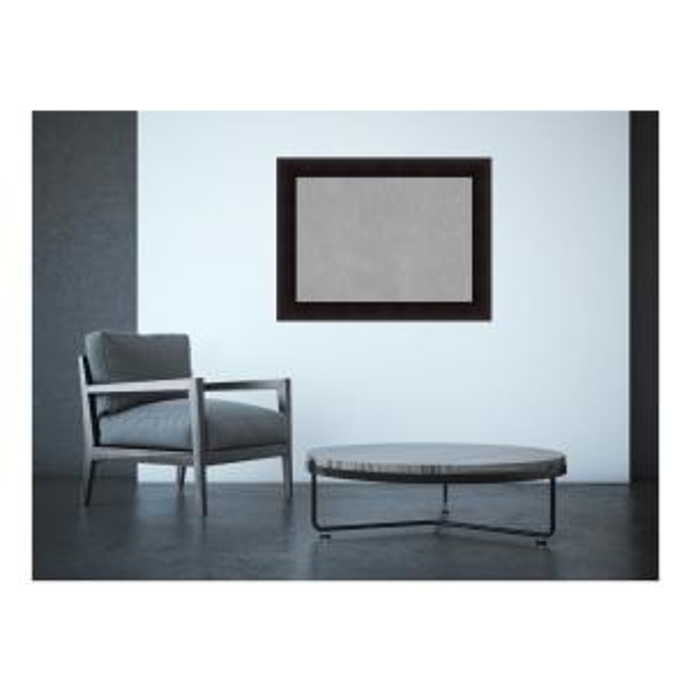 Portico Espresso Wood 34 in. x 26 in. Framed Magnetic Memo Board
