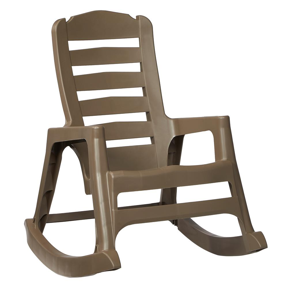 Superb Null Big Easy Plastic Outdoor Rocking Chair Mushroom