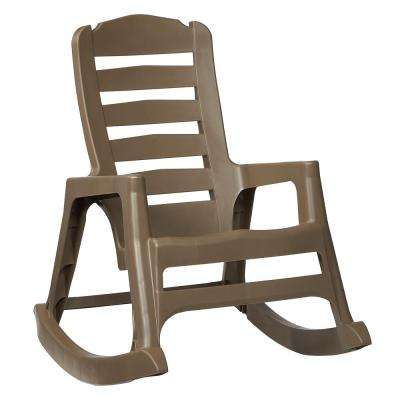 Big Easy Plastic Outdoor Rocking Chair Mushroom