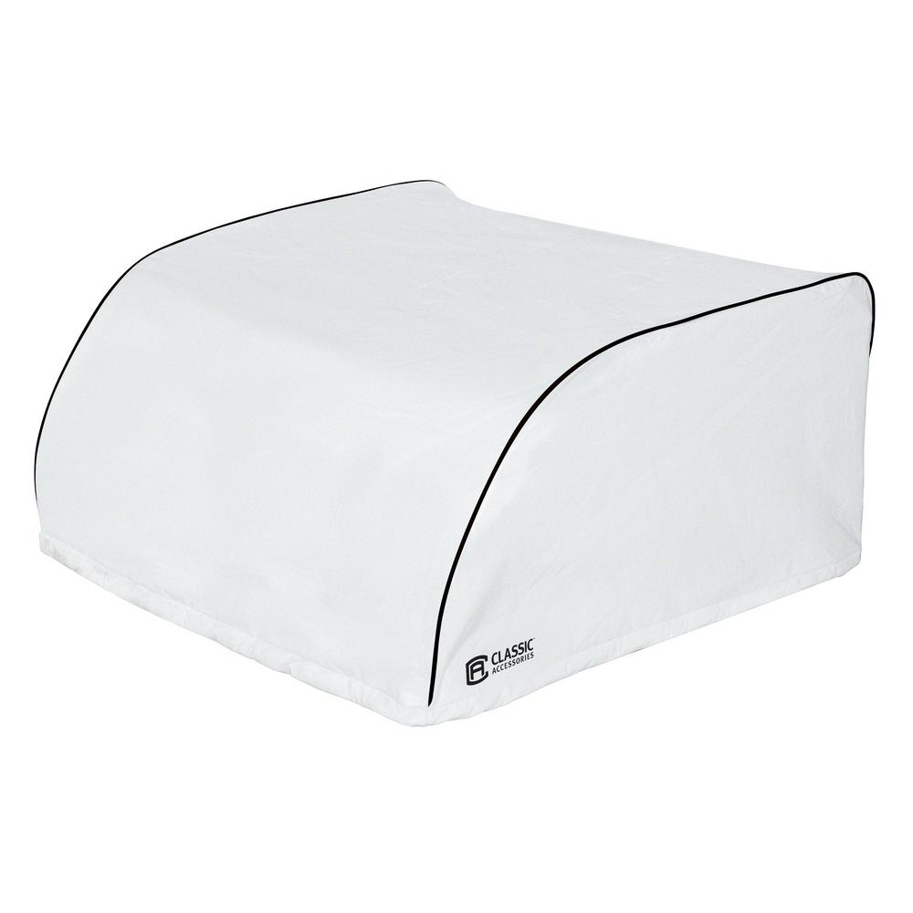 Overdrive 27.25 in. L x 29 in. W x 14.25 in. H RV Air Conditioner Cover White Dometic Overdrive 27.25 in. L x 29 in. W x 14.25 in. H RV Air Conditioner Cover White Dometic