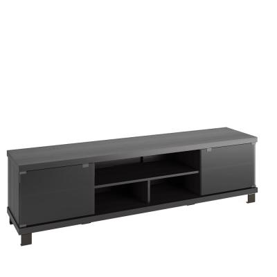 Holland 71 in. Black Ravenwood TV Stand Fits TVs Up to 80 in. with Storage Doors