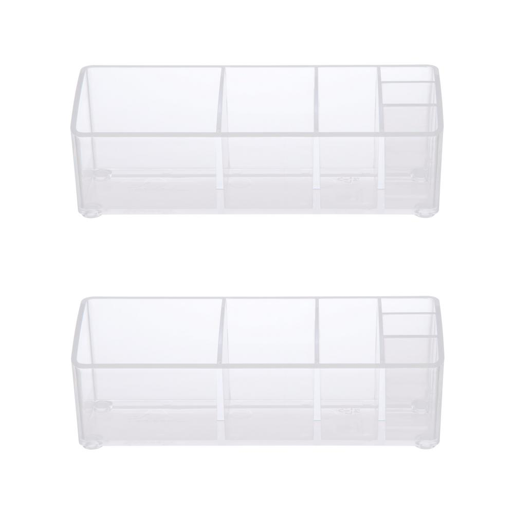 Kenney Bathroom Countertop Organizer 6 Compartments In Clear Set