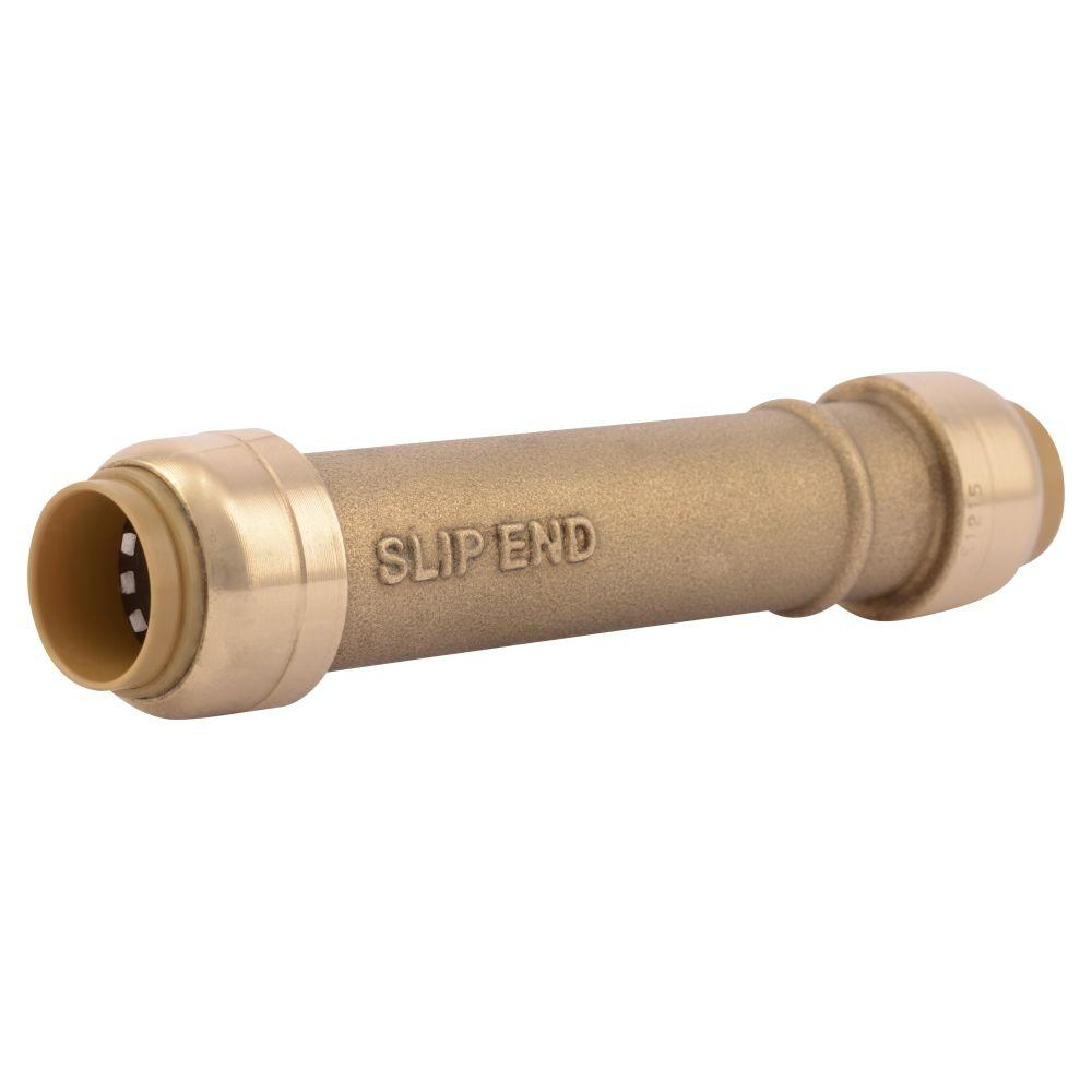 SharkBite 1/2 in. Brass Push-to-Connect Slip Coupling