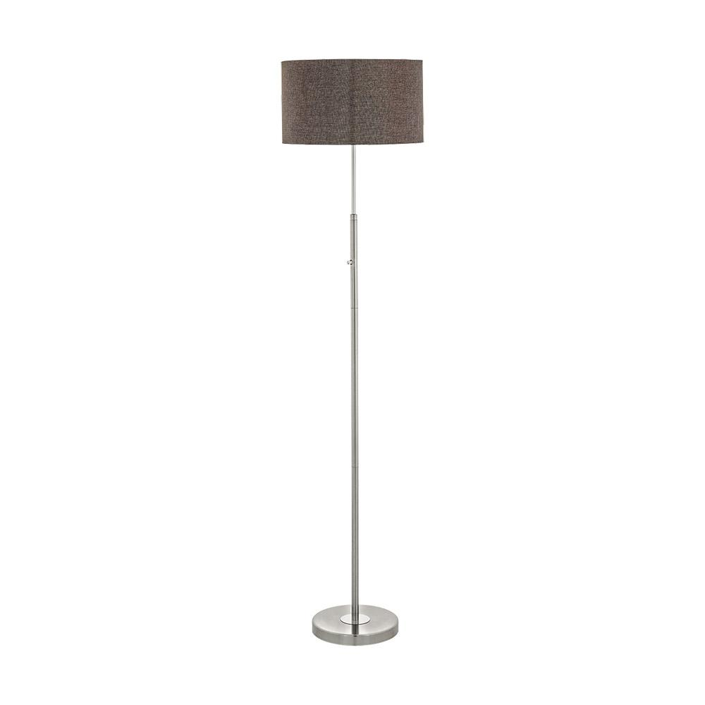 EGLO Romao 2 63 in. Satin Nickel Floor Lamp-95344A - The Home Depot