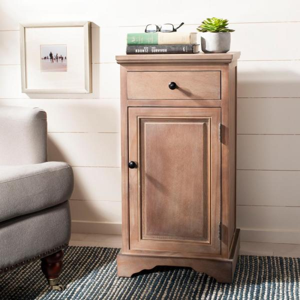 Home Depot Pine Kitchen Cabinets: Safavieh Jett Washed Natural Pine Storage Cabinet AMH5722B