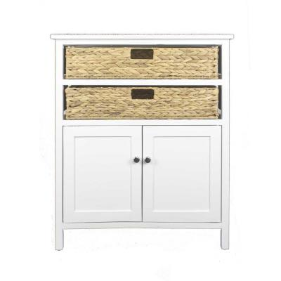 Shelly White with a Drawers and Doors Wood Cabinet