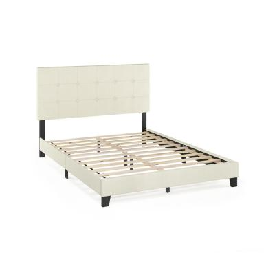 Laval Linen Queen Button Tufted Bed Frame
