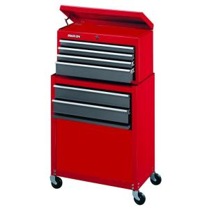 Stack-On 24 inch 6-Drawer Tool Chest and Cabinet Combo, Red by Stack-On