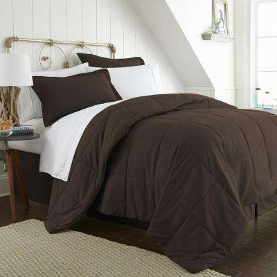Bed In A Bag Performance Chocolate Twin 8-Piece Bedding Set