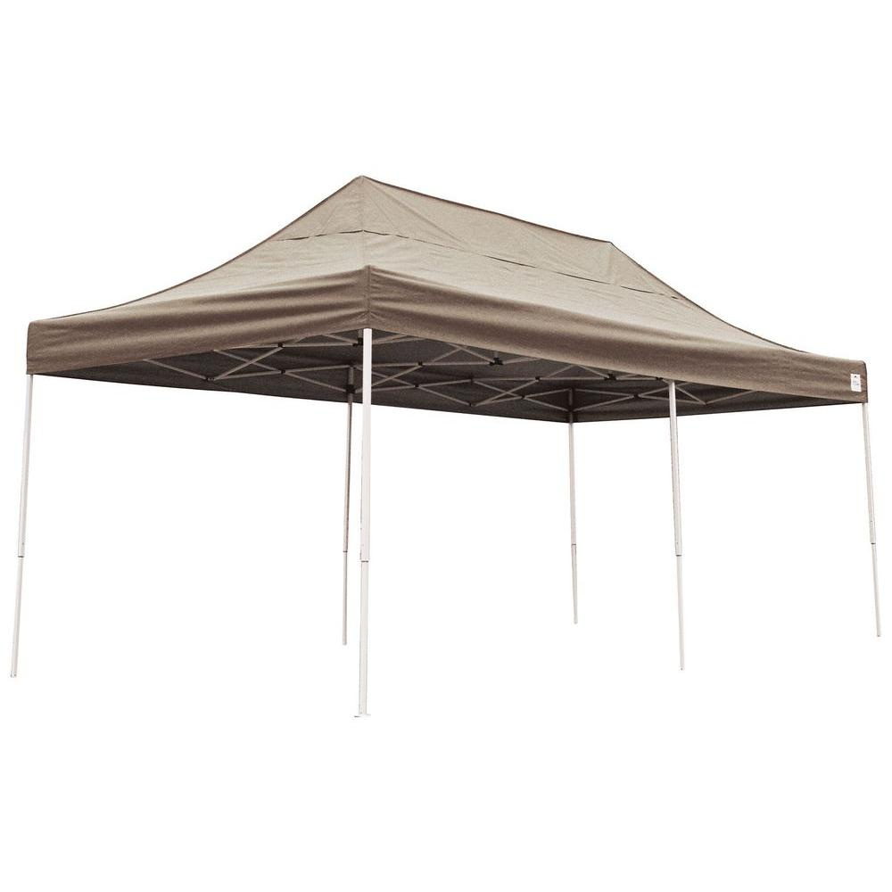 Straight Leg Pop Up Desert Bronze Cover Canopy-22583 - The Home Depot  sc 1 st  The Home Depot & ShelterLogic 10 ft. x 20 ft. Straight Leg Pop Up Desert Bronze ...