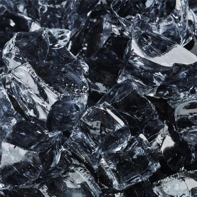 1/2 in. 10 lbs. Reflective Storm Gray Original Fire Glass for Indoor and Outdoor Fire Pits or Fireplaces