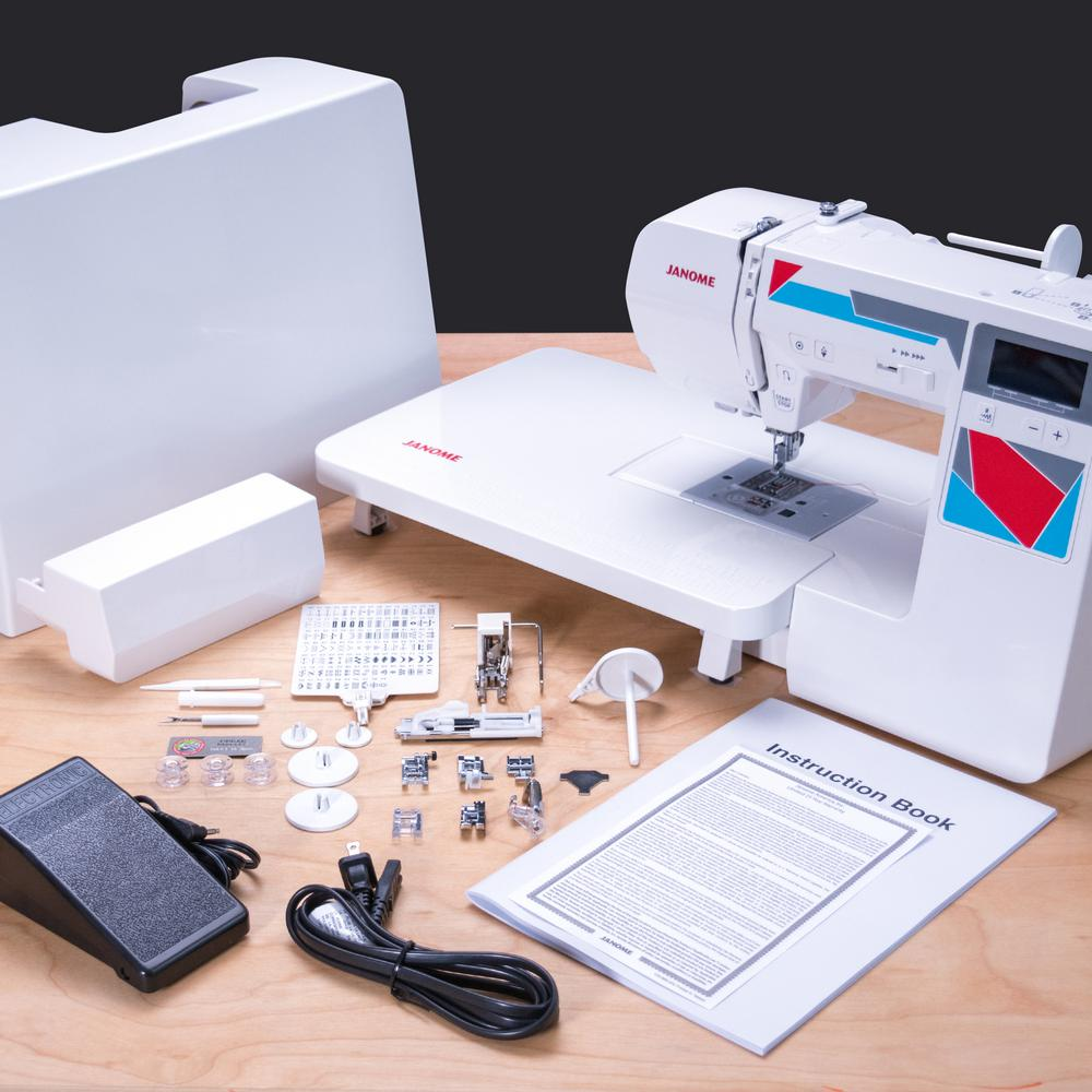 p machines white quilt bonus janome and sewing accessories machine with quilting mod