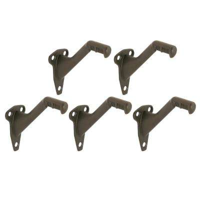 Oil-Rubbed Bronze Standard Zinc Handrail Bracket (5 per Pack)