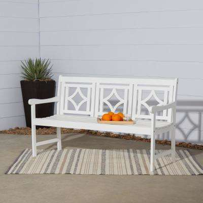 Bradley 3-Person Wood Outdoor Bench