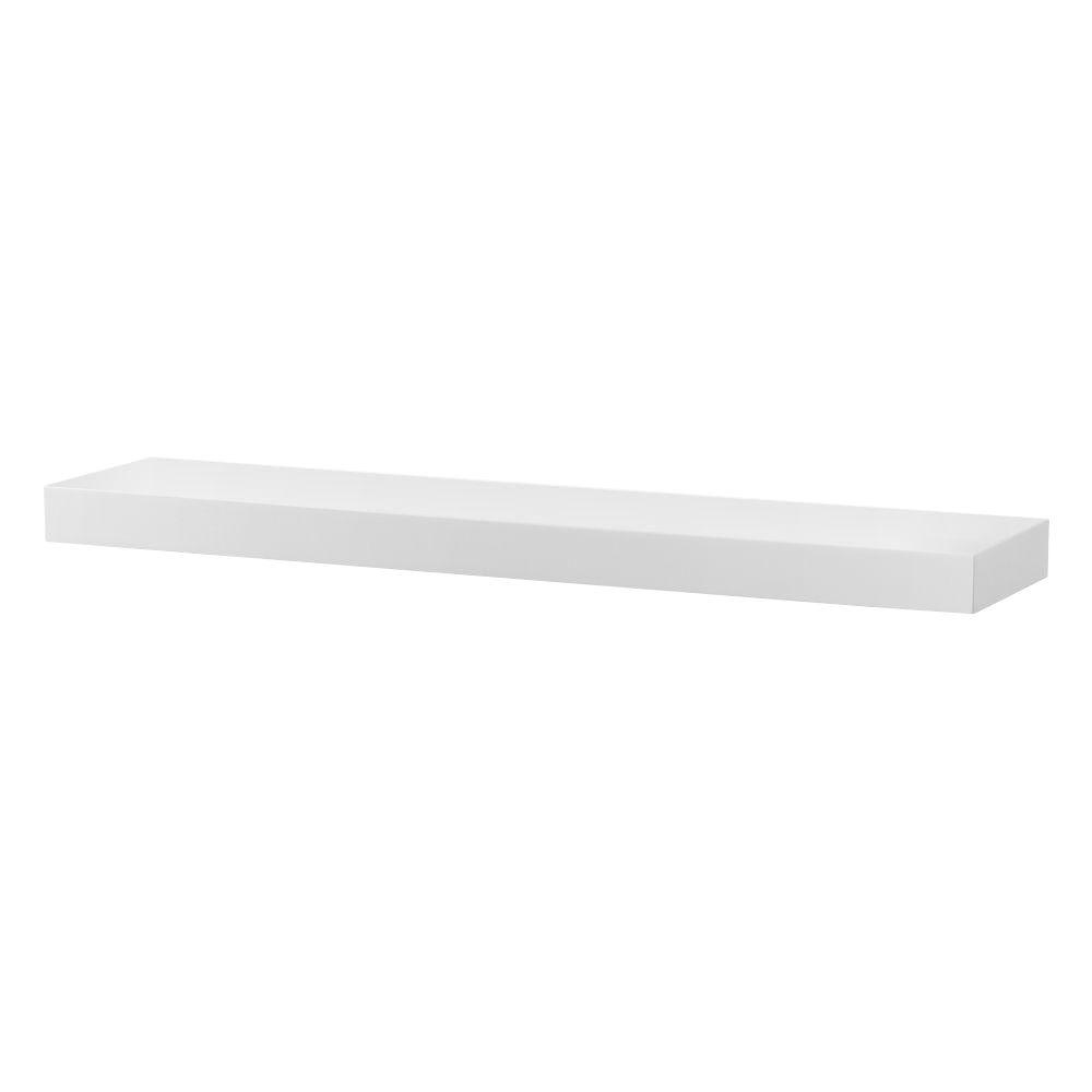 Foremost Kole 33-3/4 in. W Floating Wall Shelf in White