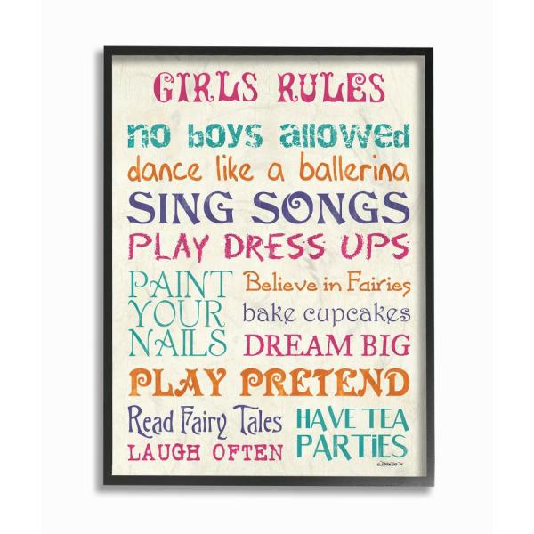 The Kids Room By Stupell 11 In X 14 In Pink Teal Orange And